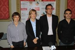 Blanca Albà, Neus Lloveras, Pau Viadel i Francesc Gil