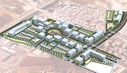 Maqueta de la urbanització dels polígons 2 i 3 del Llimonet