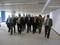 El conseller Josep Huguet visitant Neàpolis