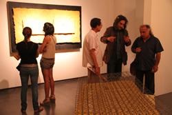 Carles Arnal comentant la seva obra
