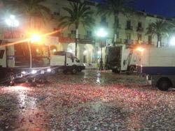 El vespre de diumenge els treballs es concentraven a la plaça de la Vila