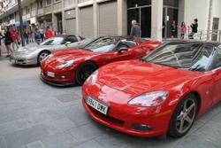 La trobada de Corvettes, dissabte a al rambla de la Pau