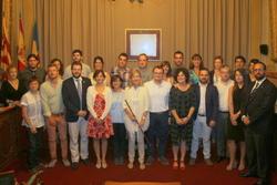 Constitució Ajuntament. Grup de regidors a 250