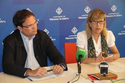 El regidor d'Hisenda, Miquel Àngel Gargallo, i l'alcaldessa, Neus Lloveras