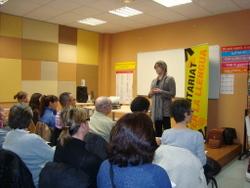 La regidora de Cultura va ser a l'acte de presentació