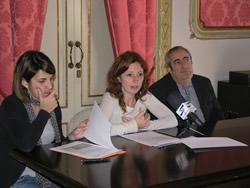 D'esquerra a dreta: Montserrat Prats, Míriam Espinàs i Salvador Baig