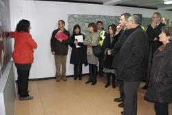 Visita del conseller Joaquim Nadal obres Eix Diagonal 2