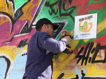 Les parets aniran identidicades amb el logotip del Project G