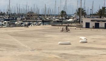 La plaça del port avui