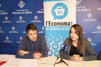 Gisela Vargas i Ramon Carbonell han valorat l'Economat en roda de premsa