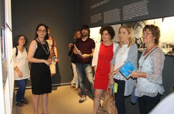 L'Alcaldessa i la regidora de Cultura van visitar dimecres l'Espai amb els mitjans de comunicació