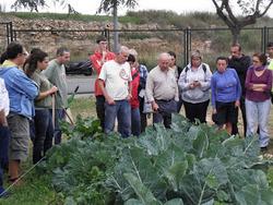 Els hortolans van poder resoldre dubtes sobre agricultura ecològica amb un pagès expert