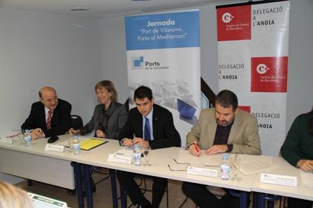 L'alcaldessa Neus Lloveras al costat de l'alcalde d'Igualada, Marc Castells, a la jornada
