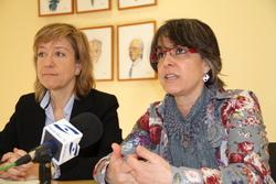 L'alcaldessa, Neus Lloveras, i la regidora de Cultura, Marijó Riba