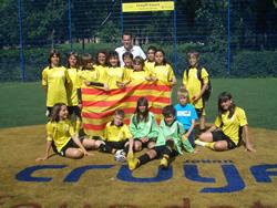 Els i les joves de la selecció catalana que van prendre part al torneig europeu
