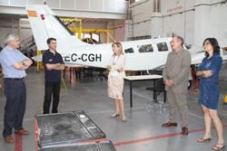El director del SOC va veure les instal·lacions  i el material de l'EFAV