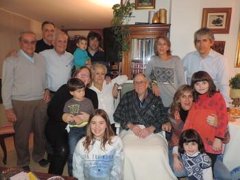 Paco Ribalta ha celebrat 100 anys amb la seva família
