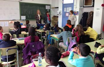L'aula de 4t B, promotora del projecte