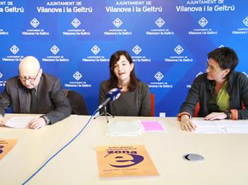 D'esquerre a dreta: Joan Gómez, Ariadna Llorens i Susana Igual