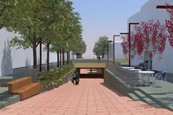 Imatge virtual del projecte de modificació del pas sota la via del carrer de la Llibertat