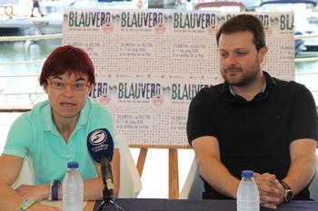 Blanca Albà i Gerard Figueras, aquest matí al CN Vilanova