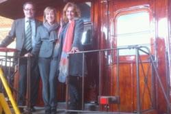 Pere Macias, amb Neus Lloveras i Pilar Garcia