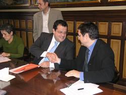 Acte de signatura del conveni entre l'Ajuntament i BCN Regional