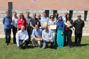 Els guanyadors i el jurat a la Masia d'en Cabanyes
