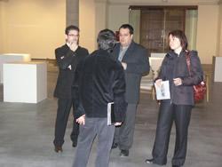 diputat de Cultura, l'alcalde de VNG i la regidora de Cultura visiten La Sala