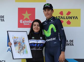 Marc Soler amb la guanyadora criterium femení