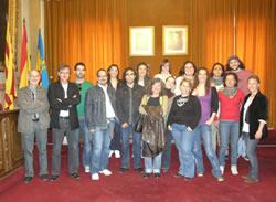 Foto de família al Saló de Plens