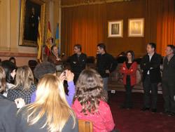Els alumnes de Mérignac han estat rebuts al Saló de Plens