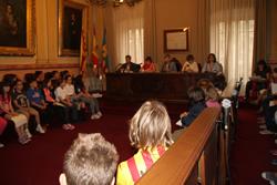 La trobada es va fer al Saló de Plens de l'Ajuntament