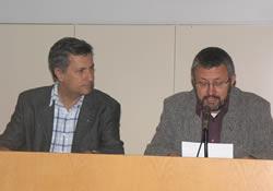 El regidor d'Urbanisme i Medi Ambient, Jordi Valls, i el director de l'EPSEVG, Enric Trullols, han inaugurat les jornades