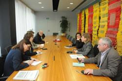 Reunió a l'Ajuntament de Sant Cugat