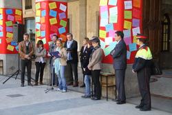 Lectura del manifest a la plaça de la Vila