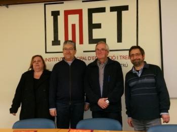 Joan Martorell amb els representants de l'AFEVI