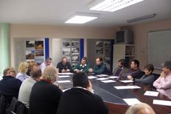La trobada va servir per parlar de la situació de les empreses constructores a l'actualitat