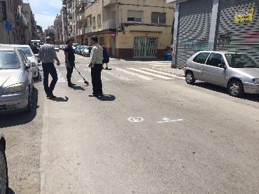 Treballs previs a l'asfaltat de carrers de la ciutat