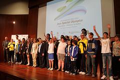 La presentació dels jocs Special Olympics, el 10 de maig a Neàpolis