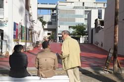 L'escultura actuarà de porta d'accés des del passeig a la plaça de la Mediterrània i l'Eixample de Mar