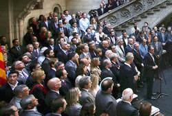 Més de 800 alcaldes al Palau de la Generalitat