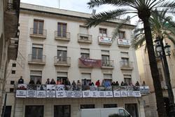 S'han desplegat els drets a la plaça de la Vila