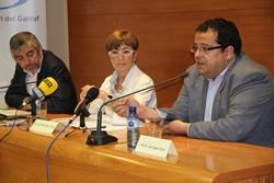Moment de la roda de premsa al Consell Comarcal del Garraf