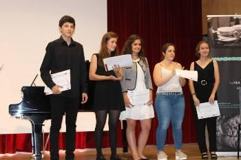 Marcel Coreblla recollint el premi