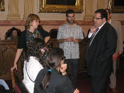 L'alcalde i els joves participants