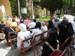 Acte de cloenda, als jardins del museu romàntic Can Papiol