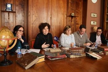 La presentació dels llibres es va fer a la biblioteca de la Masia d'en Cabanyes