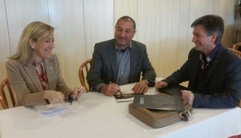 L'alcaldessa de VNG, reunida amb el rector de la UPC i el director de l'EPSEVG