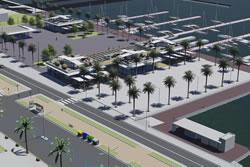 Perspectiva aèria de la nova proposta de la plaça del Port
